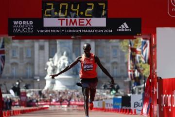 Virgin Money London Marathon. Wilson Kipsang è il più forte.                                 Mo sotto le aspettative.