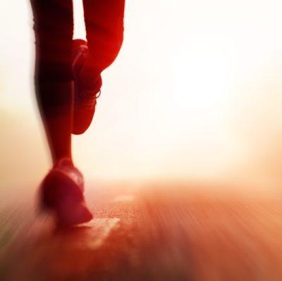 Runners Legs Sunset